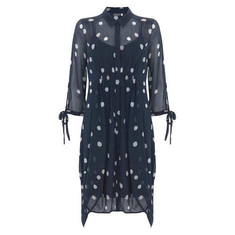 Brynn Print Cocoon Shirt Dress, ${color}