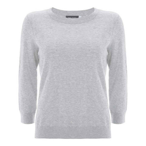 Simple Round Neck Sweater, ${color}