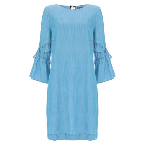 Chambray Shift Dress, ${color}