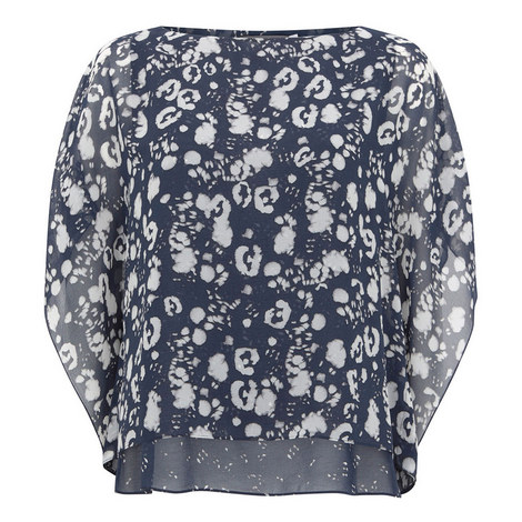 Louise Printed Layered Top, ${color}