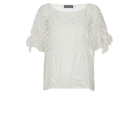 Ivory Palm Burnout Tee, ${color}