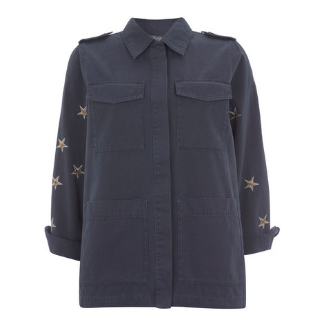 Embroidered Star Four Pocket Jacket, ${color}