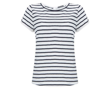 Stripe Knot Back Tee, ${color}