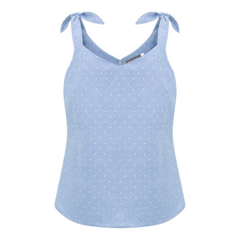 Chambray Star Printed Camisole, ${color}