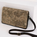 Sophie Beaded Suede Clutch, ${color}