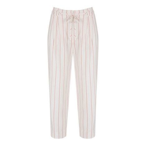 Striped Paper Bag Trousers, ${color}
