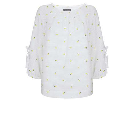 Lemon Bow Sleeve Blouse, ${color}