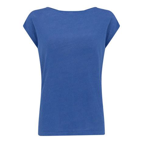 Cross Back Linen T-Shirt, ${color}