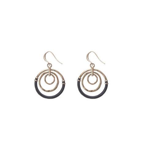 Triple Circle Woven Earring, ${color}
