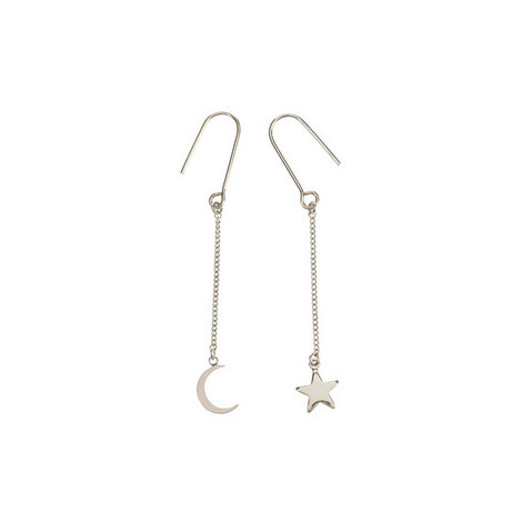 Moon and Star Mismatch Earring, ${color}