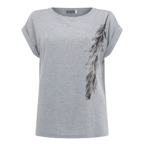 Sequin Feather T-Shirt, ${color}