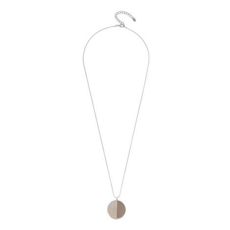 Circle Stone Pendant Necklace, ${color}