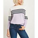 Colour-Block Striped Sweater, ${color}