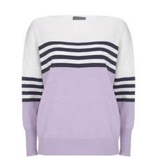 Colour-Block Striped Sweater