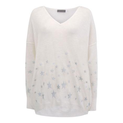 Scattered Foil Star Sweater, ${color}