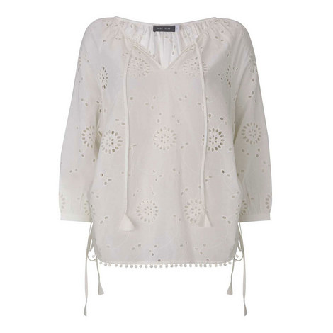 Broderie Anglaise Blouse, ${color}