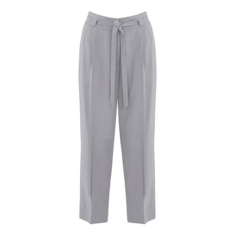 Belted Tapered Trousers, ${color}