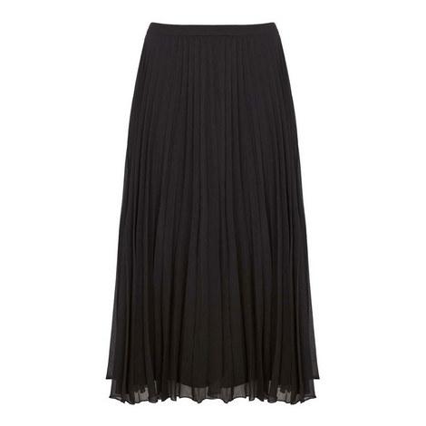 Chiffon Pleated Midi Skirt, ${color}
