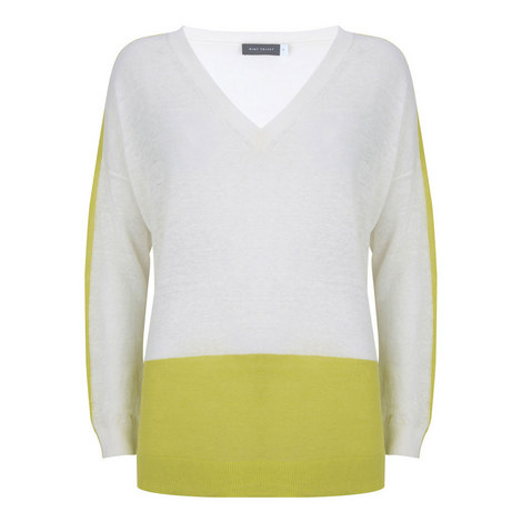 V-Neck Linen Sweater, ${color}