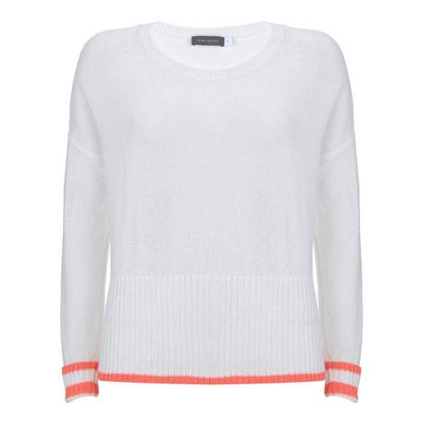 Contrasting Trim Sweater, ${color}