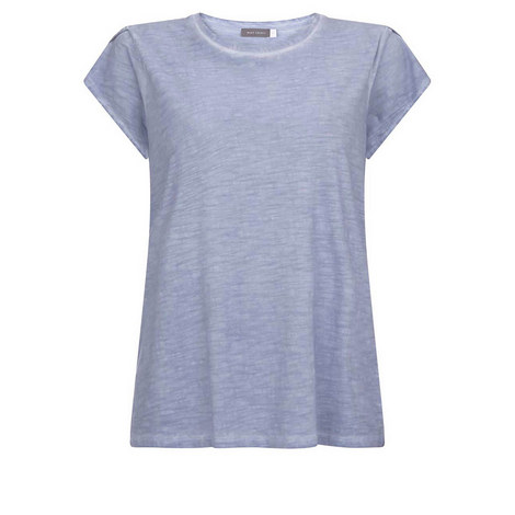 Chambray Petal Sleeve Tee, ${color}