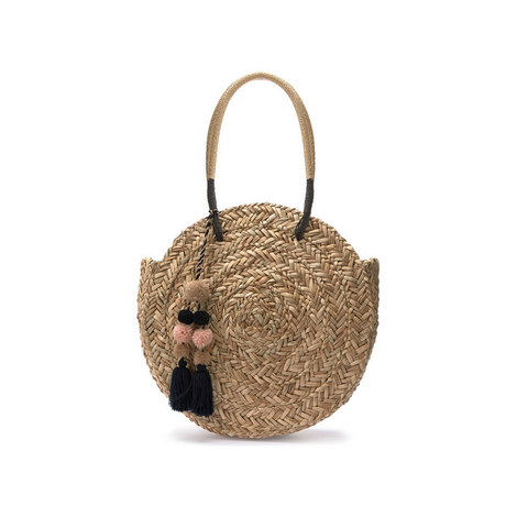 Willow Round Straw Bag, ${color}
