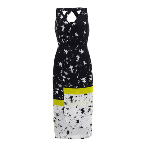 Robin Printed Crêpe Dress, ${color}