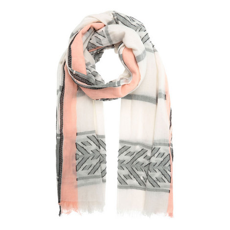 Cotton Jacquard Scarf, ${color}