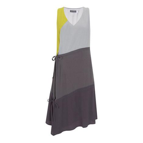 Colour-Block Trapeze Dress, ${color}