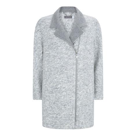 Asymmetric Cocoon Coat, ${color}