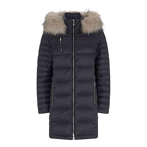 Quilted Faux Fur Parka, ${color}