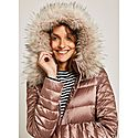 Quilted Faux Fur Jacket, ${color}