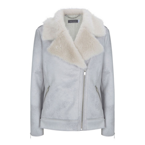 Faux Fur Aviator Jacket, ${color}