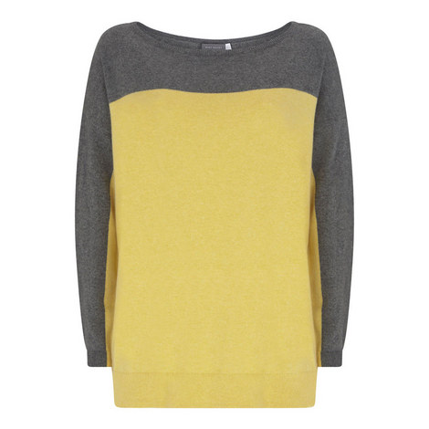 Oversized Buttercup Blocked Knit, ${color}