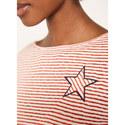 Striped Burnout Jersey T-Shirt, ${color}