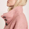 Clove Funnel Neck Boucle Coat, ${color}