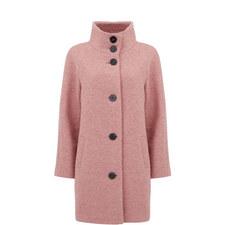 Clove Funnel Neck Boucle Coat