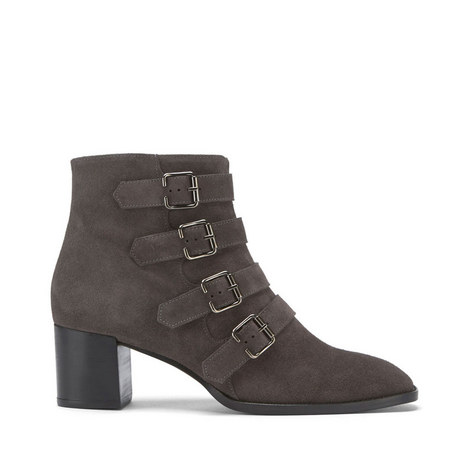Hope Suede Buckled Boots, ${color}
