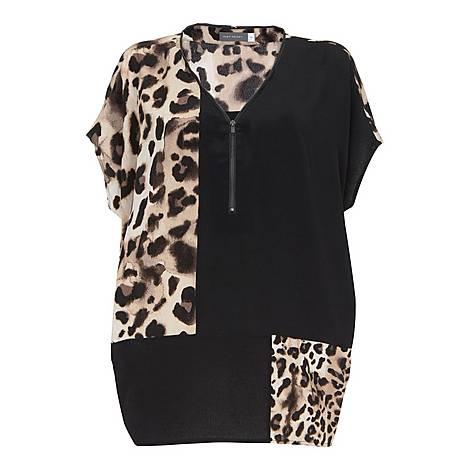 Audrey Print Zipped T-Shirt, ${color}