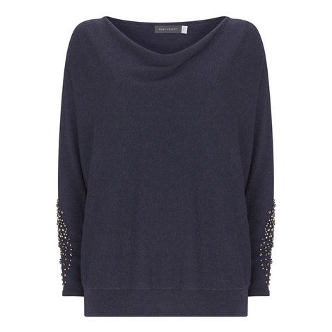 Indigo Diamante Batwing Knit, ${color}