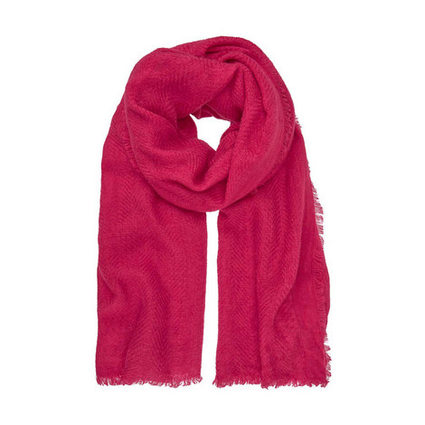 Cerise Textured Frayed Scarf, ${color}