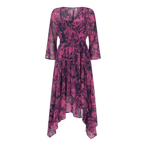 Connie Print Wrap Effect Dress, ${color}