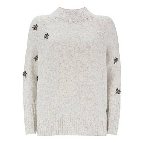 Jewelled Bee Boxy Sweater, ${color}
