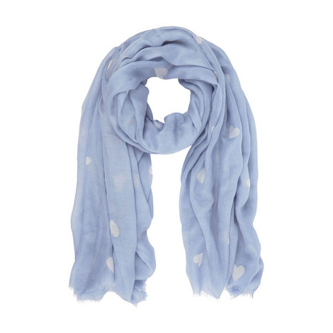 Heart Print Scarf, ${color}