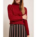 High Neck Honeycomb Stitch Knit, ${color}