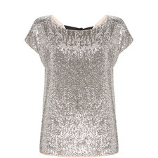 Bow Back Sequin T-Shirt