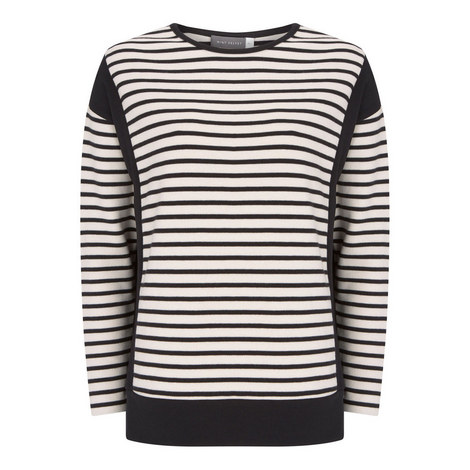 Black Striped Blocked Top, ${color}