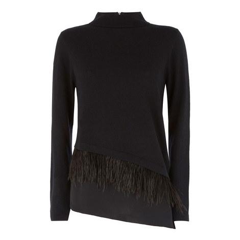 Feather Asymmetric Knit, ${color}