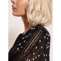 Lace Star Print Blouse, ${color}