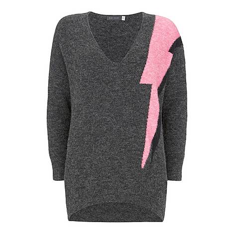 Contrast Lightning Bolt Knit, ${color}